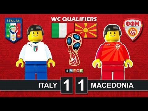 Italy vs Macedonia 1-1 • World Cup 2018 Qualifiers (06/10/2017) • Italia Macedonia Lego Highlights