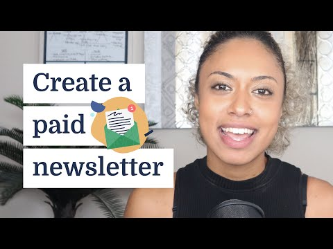 How to create a paid newsletter