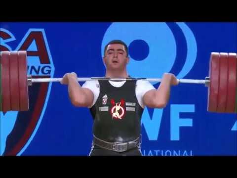 Sargis Martirosjan - Stoßen 203, 208x, 210x - 2017 WEIGHTLIFTING WORLD CHAMPIONSHIPS