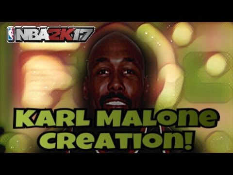 NBA 2K17 HOW TO MAKE KARL MALONE [NBA LEGEND CREATION]