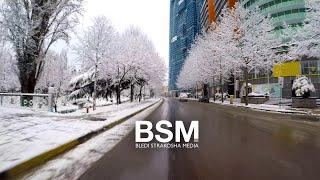 Driving After The Snowstorm - Albania Scenic Drive | Dëborë Në Tiranë 🇦🇱 (14 Shkurt 2021) [4K UHD]