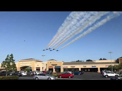 Blue Angels flyby and landing at Los Alamitos Joint Forces Training Base
