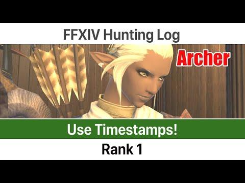 FFXIV Hunting Log Archer Rank 1 - A Realm Reborn