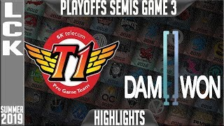 skt vs dwg highlights game 3 lck summer 2019 playoffs semi finals sk telecom t1 vs damwon gaming