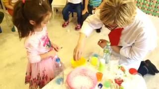 Химическое шоу на день рождение ребенка в Москве в садик, ресторан, бэби-клуб недорого