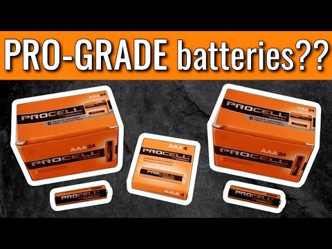 Best Batteries You've NEVER Heard Of??   Duracell PROCELL