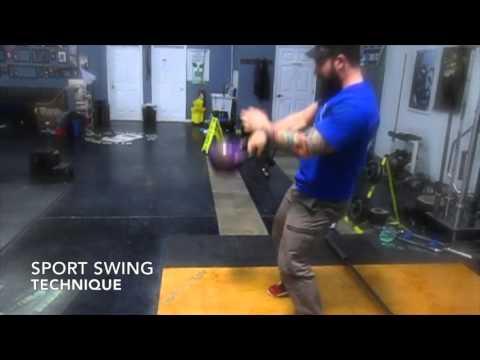 Kettlebell Sport Swing Technique Demonstration by Joe Daniels