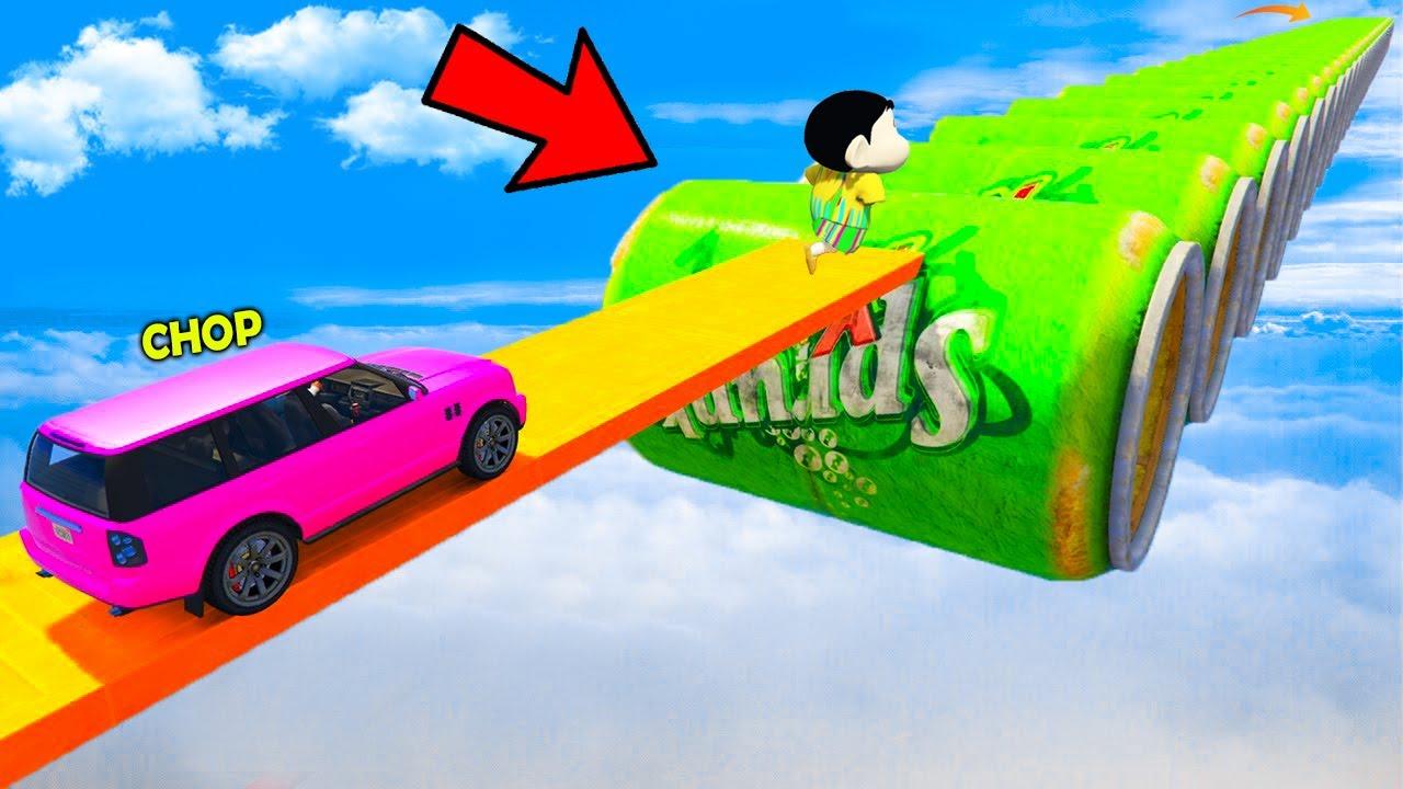 GTA 5: SHINCHAN AND PINCHAN 1000% IMPOSSIBLE COKE CAN CHALLENGE GTA 5! (GTA 5 mods)
