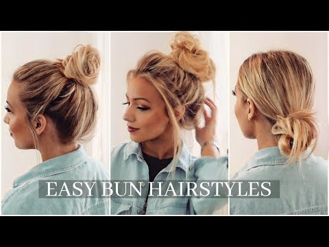BUN HAIRSTYLES EVERYONE WILL FIND EASY!