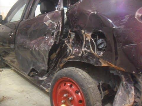 видео: Кузовной ремонт. замена крыла hyundai elantra