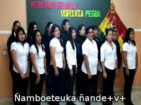 HIMNO NACIONAL DE BOLIVIA EN GUARANÍ (CON LETRA)