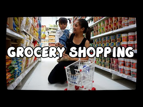 ONE YEAR OLD GOES GROCERY  SHOPPING | TOY CART REVIEW #toyreviewph
