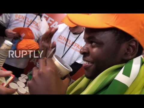 Russia: Local fans welcome Ivorian supporters ahead of match in Krasnodar