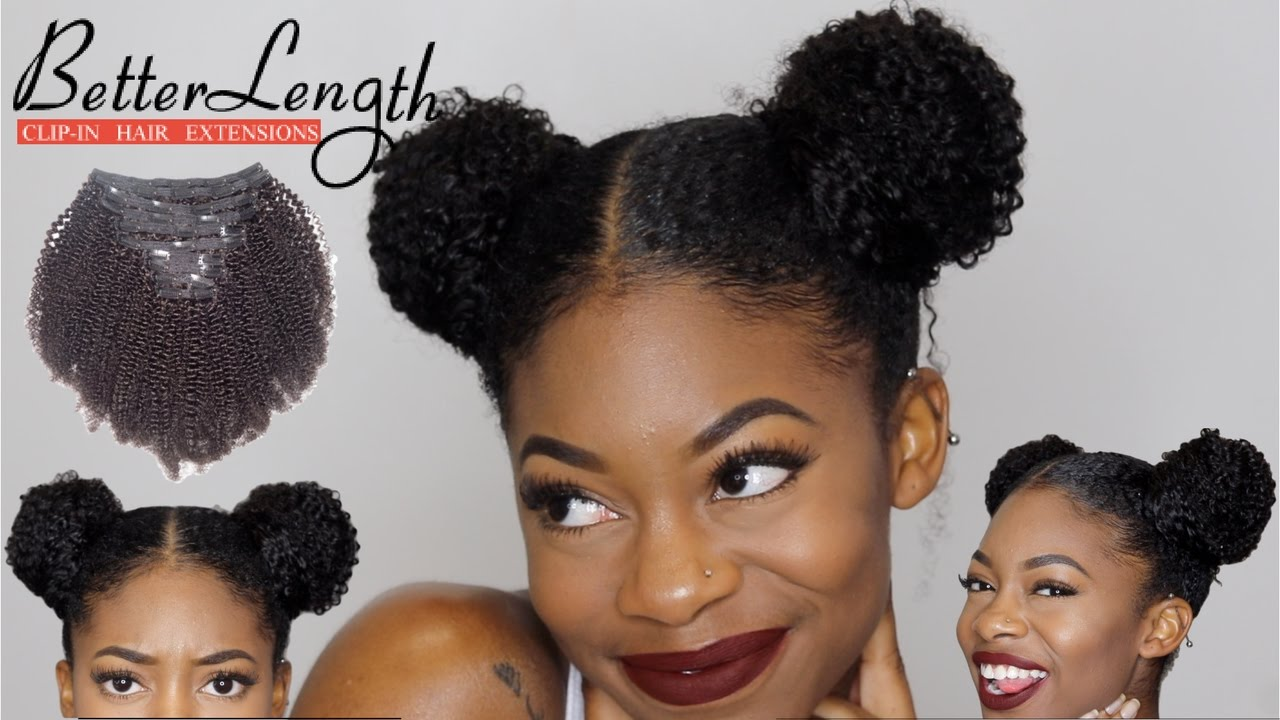 Easy Space Buns Tutorial With Clip Ins Betterlength Hair