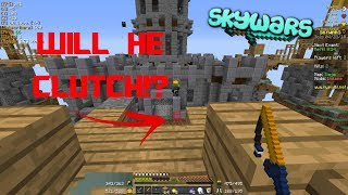 I PUNCHED HIM OFF THE MAP.. WILL HE CLUTCH IT? (Hypixel Skywars)
