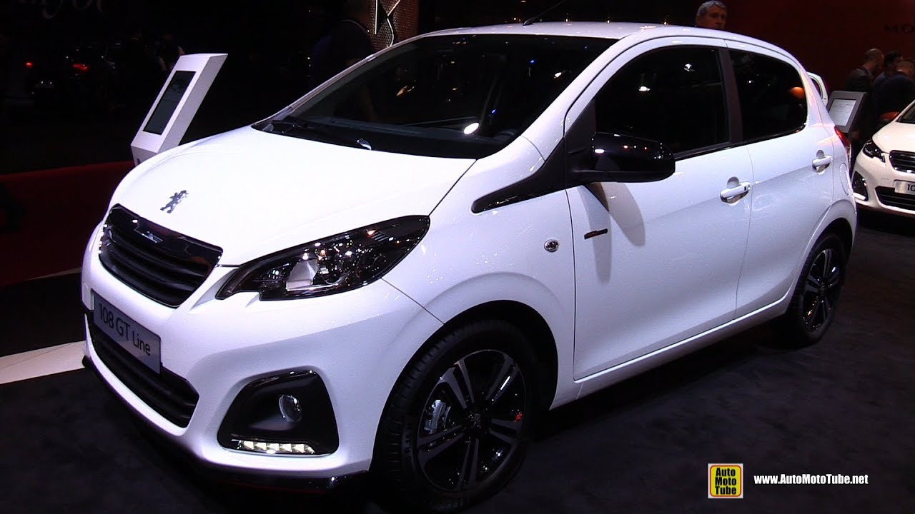 2017 peugeot 108 gt line 1 2l 82hp exterior and interior walkaround 2016 paris motor show. Black Bedroom Furniture Sets. Home Design Ideas