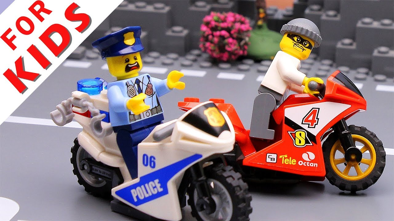 Lego City 1 Crossmotorradfahrer als Polizist