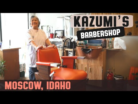 💈 Haircut By Old School Japanese Barber - Kazumi's Barber Shop Moscow Idaho