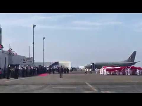Aviones MIG 29 Y Mirage 2000 Acompañan El Vuelo Del Papa Francisco A Trujillo