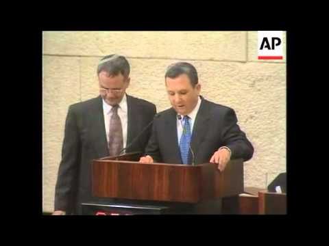 ISRAEL: KNESSET: EHUD BARAK SWORN IN AS PRIME MINISTER (4)