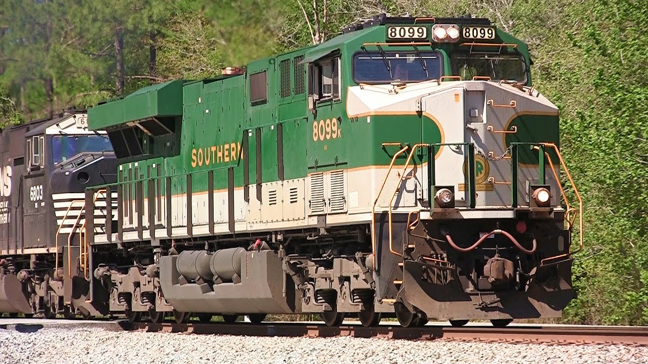 NS ES44AC #8099 'Southern' Heritage Slow Rollby