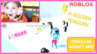 I GOT A GOLDEN PENGUIN! WITH FUNNY BLOOPERS! Roblox with London | SISTERS WHO GAME | Our Candid Kids