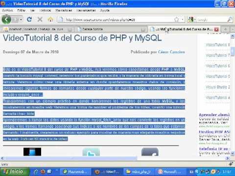 VideoTutorial 9 del Curso de PHP y MySQL