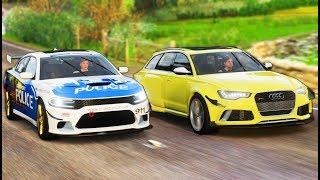 Forza Horizon 4 ПОПРОБУЙ ДОГНАТЬ   МАЖОР НА Audi Rs6 ПЫТАЕТСЯ УЙТИ ОТ ПОЛИЦИИ!