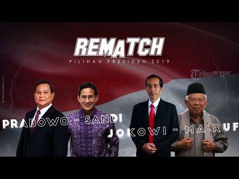 Hasil Pengundian Nomor Urut Pilpres 2019, Jokowi-Ma'ruf Nomor Urut 1, Prabowo-Sandi Nomor Urut 2