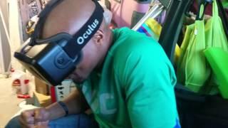 UFC Fighter Marcus Brimage tries Oculus Rift DK2
