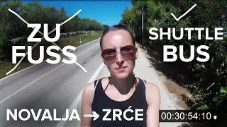 Keine gute Idee: Zu Fuß zum Zrće Beach | von Novalja, Kroatien (Take the Shuttlebus!)