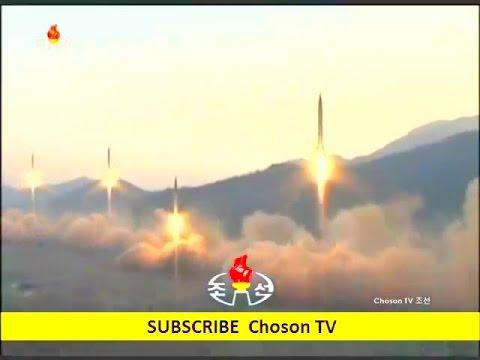 KCTV - North Korea 4 Ballistic Missiles Salvo Test Launch [480p]
