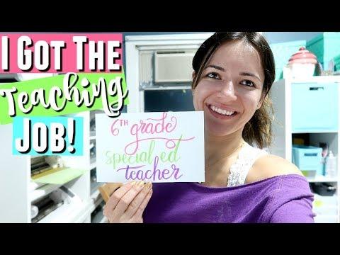 I GOT THE JOB! I AM A 6TH GRADE SPECIAL EDUCATION TEACHER!