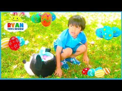 Easter Egg Hunt Surprise Toys for Kids at the Farm with Ryan ToysReview!