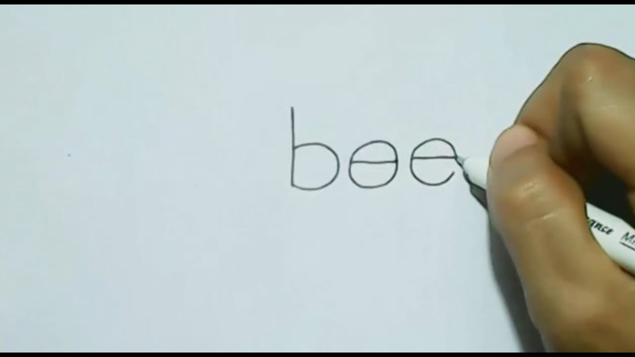 How To Turn Word Bee Into A Cartoon Bee  Wordtoon