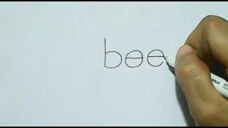 How to turn Word bee into a Cartoon Bee. | Wordtoon
