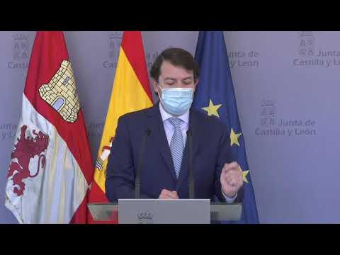Mañueco confirma que con el fin del estado de alarma desaparecerán el cierre perimetral y el toque de queda en Castilla y León