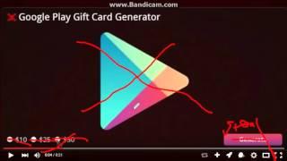 GOOGLE PLAY GIFT CARD CODE GENERATOR 2016 NO SURVEYS(SCAM)