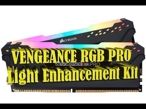 Corsаir Vengeance RGB Pro Light Enhancement KIT распаковка