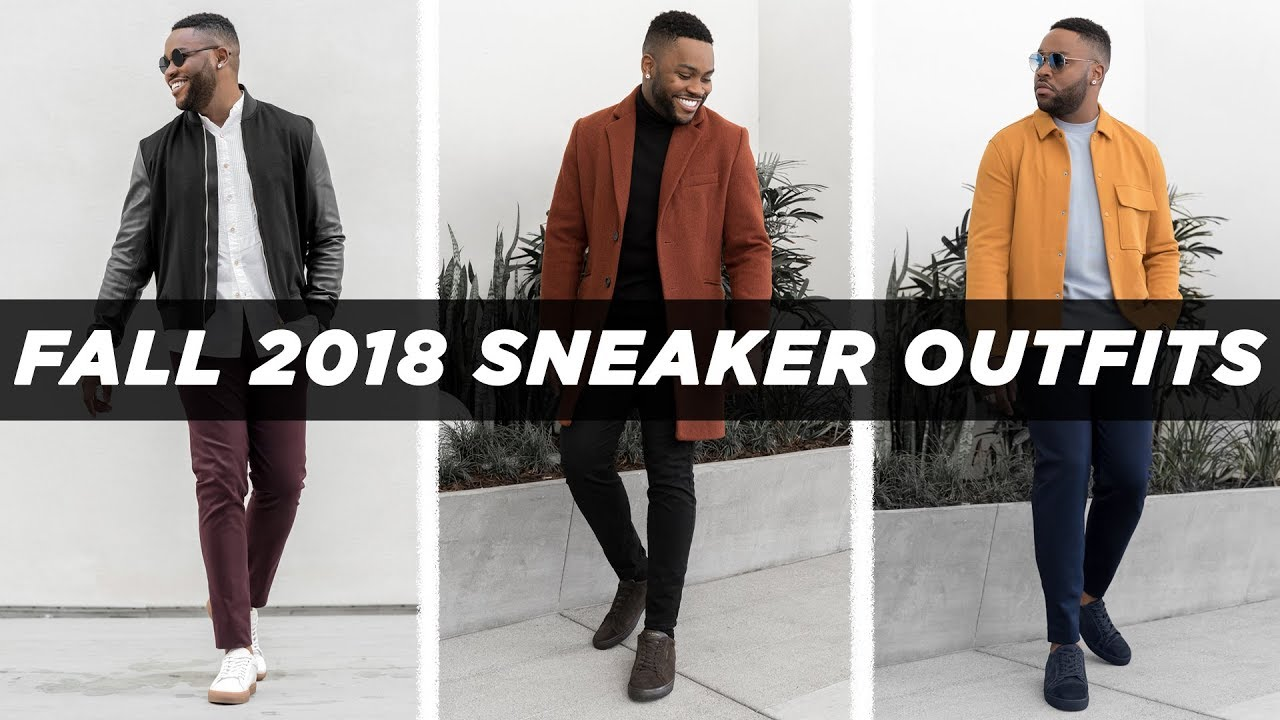 SMART CASUAL LOOKBOOK FALL 2018 | Sneaker Outfits Ideas | Men's Fashion Inspiration