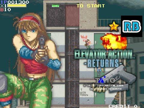 1995 [60fps] Elevator Action Returns NoDamage ALL