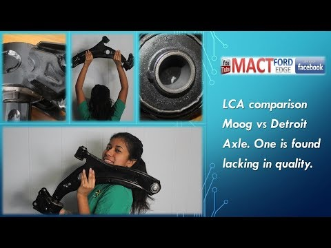 LCA comparison Moog vs Detroit axle one is found lacking in