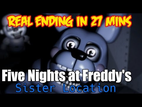 Five Nights at Freddy's Sister Location, Real Ending Any% Sub 27 mins Speedrun!