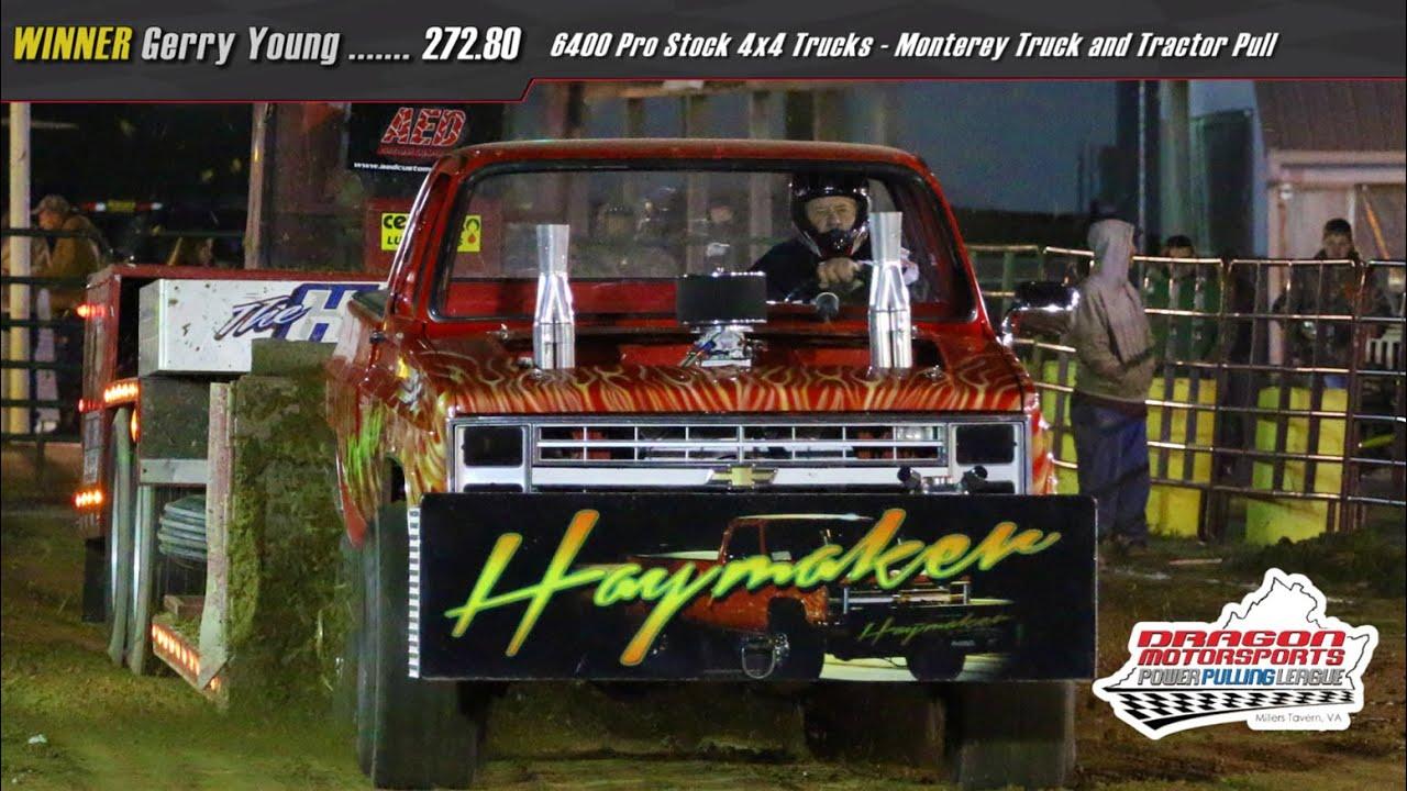 6400 Pro Stock 4x4 Trucks Pulling at Monterey May 14 2016