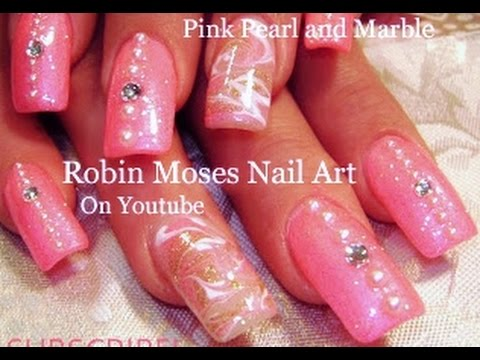Barbie pink nail art with pearls and diamonds girly nails design barbie pink nail art with pearls and diamonds girly nails design tutorial youtube prinsesfo Image collections