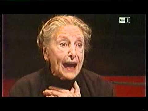 Paola Borboni in Cosi è se vi pare di Pirandello = Lezione di Teatro