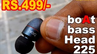 [ HINDI ] boAt BassHeads 225 In Ear Super Extra Bass Earphones - Review ! Worth your money ?