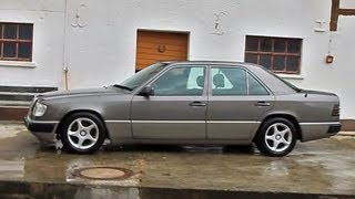 Mercedes W124. First cold start since 2004 and walk around. Erster Kaltstart seit fast 10 Jahren.