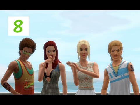 Sims 3: Island Paradise- (Part 8) TREASURE AND FIREWALK! w/ Commentary