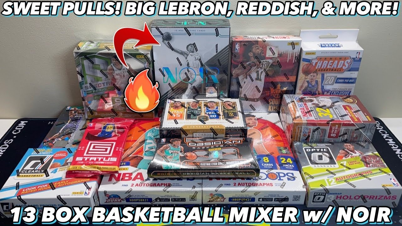 *SWEET PULLS! BIG LEBRON, REDDISH, & MORE!* 13 Box/Pack Basketball Mixer - Noir, Spectra FOTL, Optic